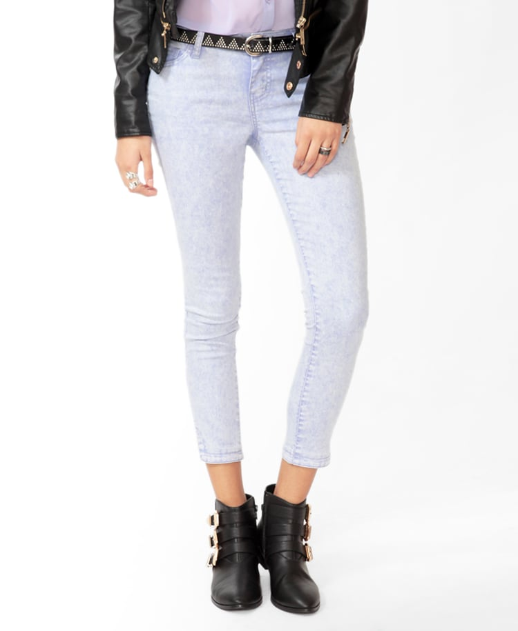 Forever 21's Cropped Colored Skinnies ($23) are a chic, affordable alternative to white jeans.