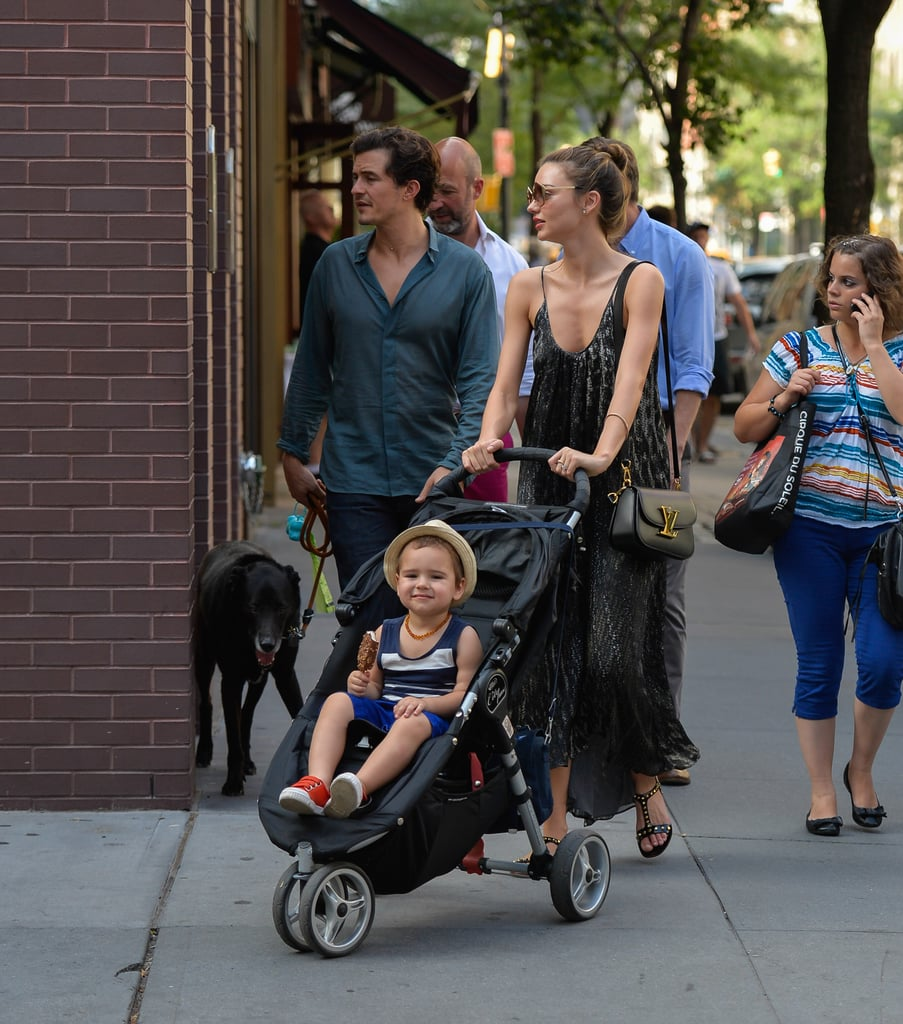 Orlando, Miranda and Flynn went to lunch to celebrate US Independence Day on July 4.