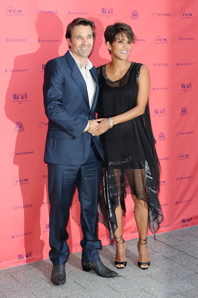 """Halle and Olivier Await the Arrival of Their """"American"""" Son in Paris"""
