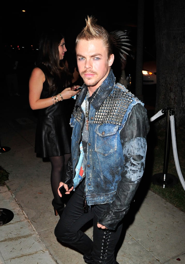 Derek Hough looked like he was shooting for Billy Idol at the 2013 Casamigos Halloween Party.