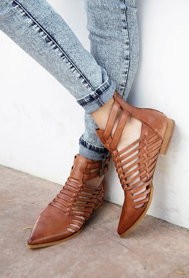 Forever 21 Brown Leather Sandals