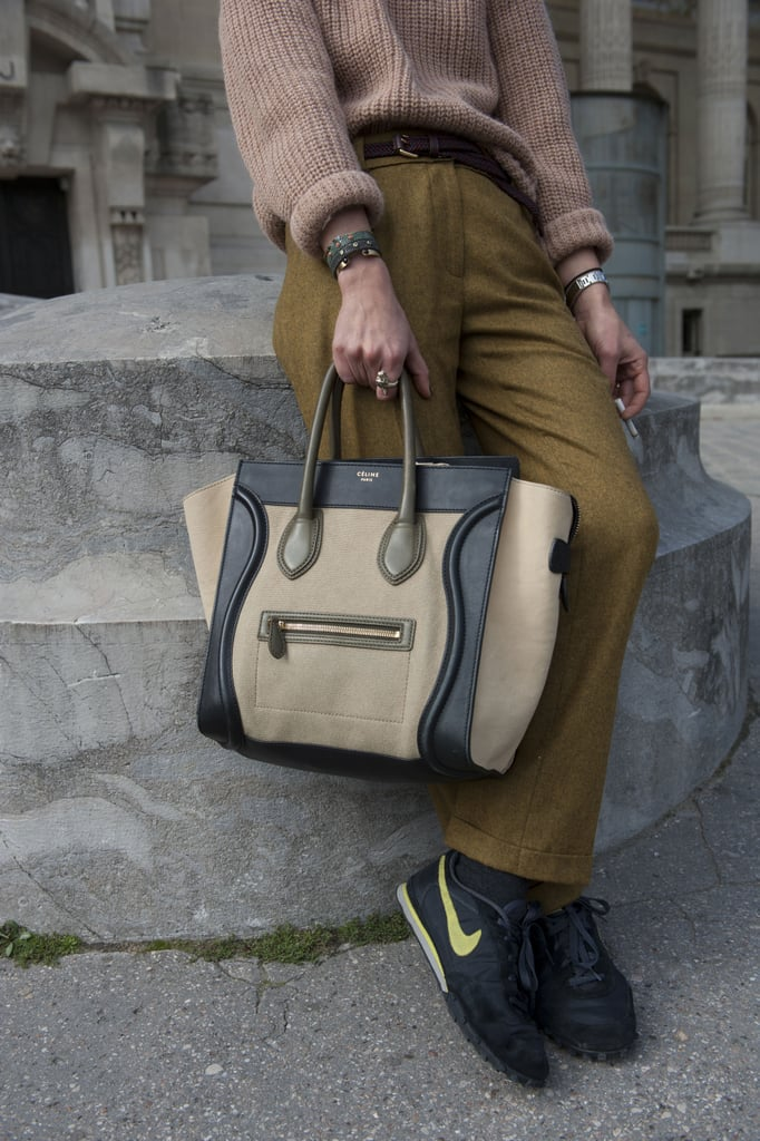 Who knew a Céline bag went so well with Nikes?