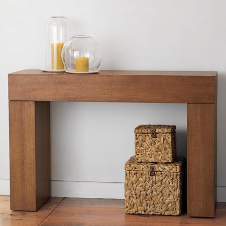 Steal of the day west elm chunky console table popsugar for West elm c table