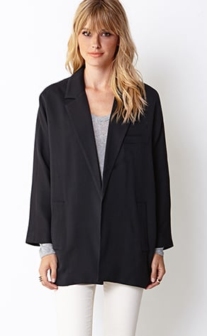 A perfect option for the tomboy, this Forever 21 standout blazer jacket ($33) is like wearing your boyfriend's blazer.