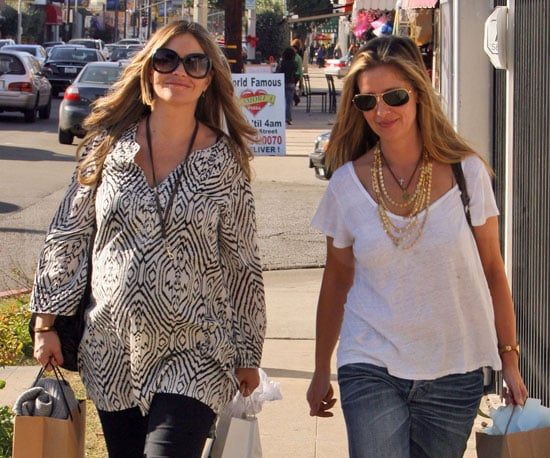 Slide Photo of Rebecca Gayheart Shopping in a Wild Shirt in LA