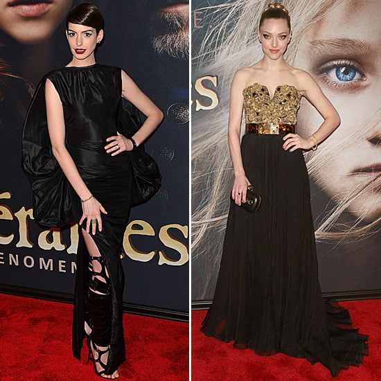Anne Hathaway & Amanda Seyfried Les Miserables NYC Premiere