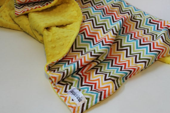 Augie and Lola Chevron Baby Blanket ($32)
