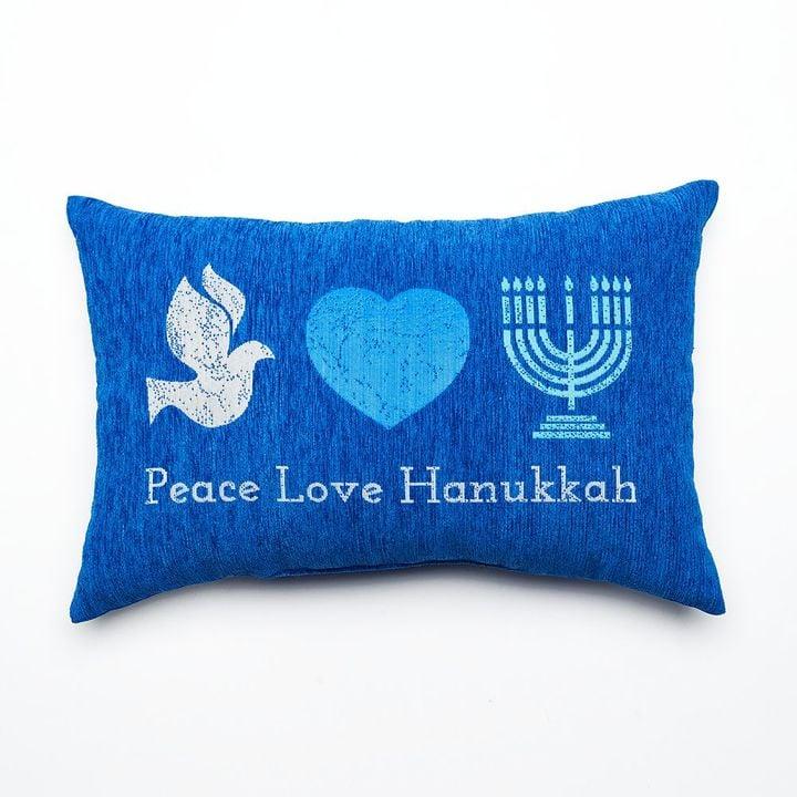 Peace, Love, and Hanukkah Pillow