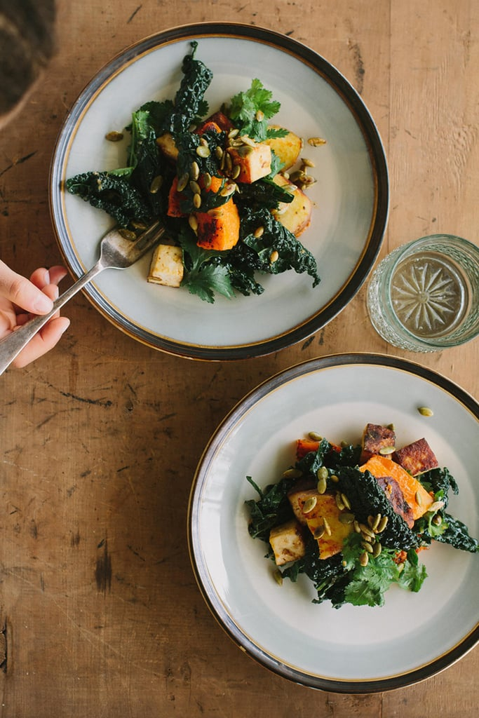 Miso-Curry Butternut Squash With Tofu and Kale