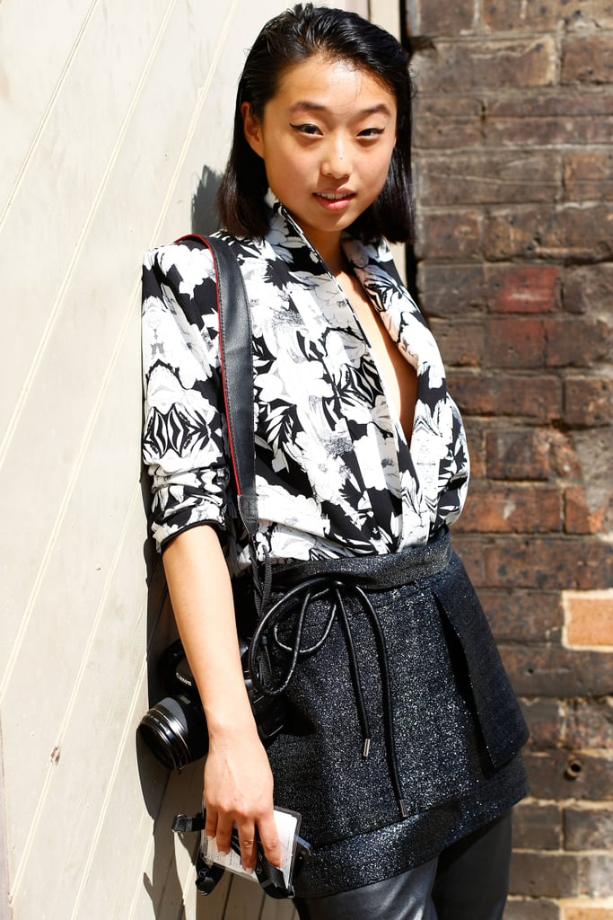 Contrast your black and white separates for an extratextural look.
