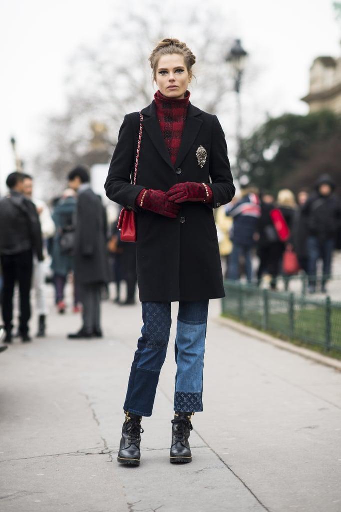 Buffalo plaid meets Louis Vuitton patchwork denim. Source: Le 21ème   Adam Katz Sinding