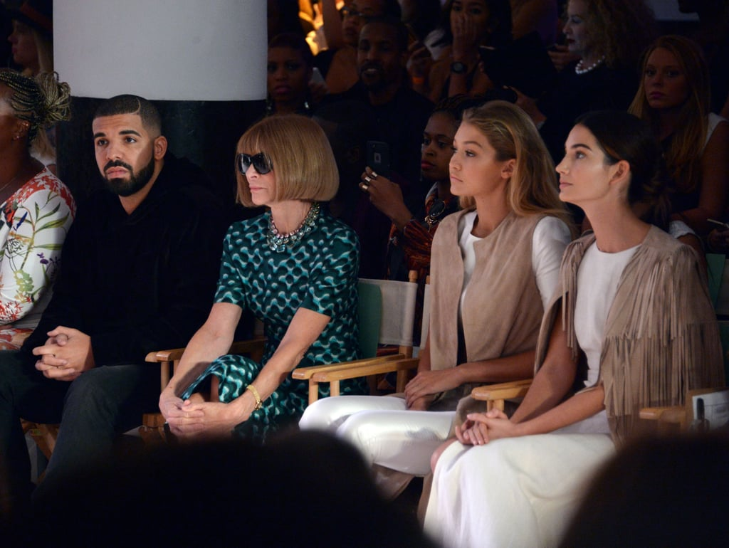 Drake, Gigi Hadid, and Lily Aldridge