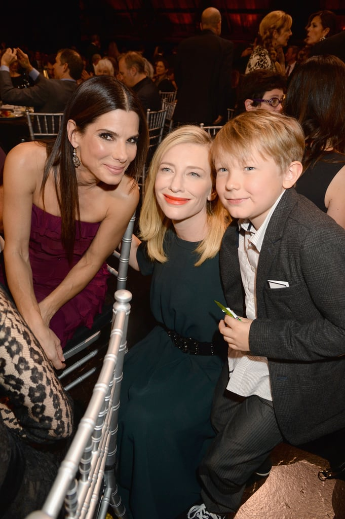 Cate Blanchett's adorable son Ignatius not only hung out with his famous mom at the Critics' Choice Awards but also did magic tricks for the audience and got to meet Sandra Bullock.