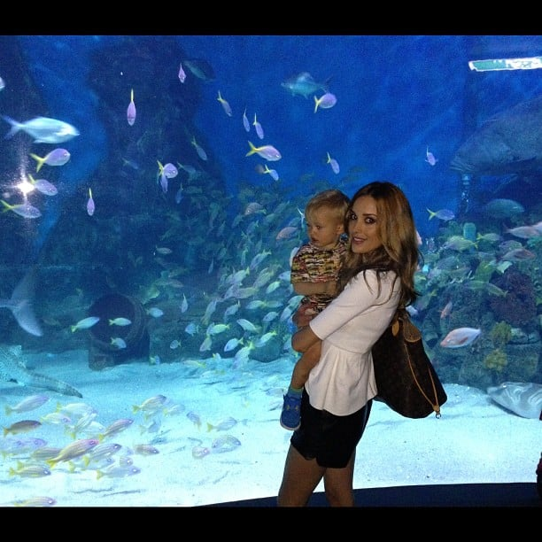 Rebecca Judd went to the aquarium with her son. Source: Instagram user becjudd