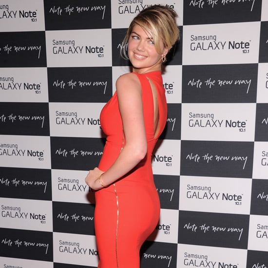 Kate Upton Wearing a Red Dress