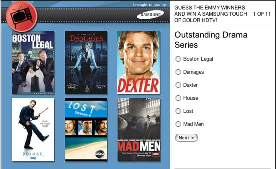 Guess The Emmy Winners Contest — Win a Free Samsung HDTV