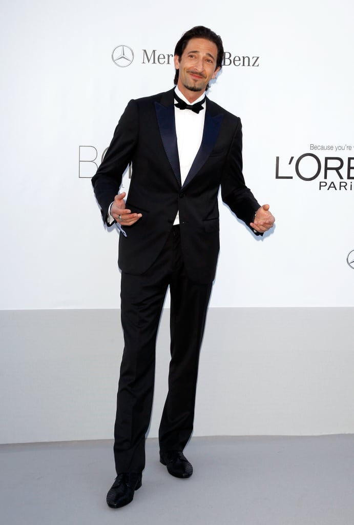 Adrien Brody suited up for the amfAR Cinema Against AIDS gala.