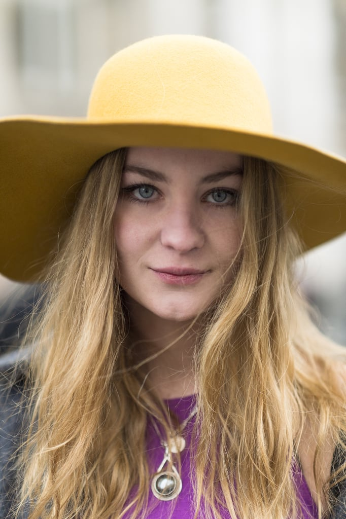 A yellow cab and loads of mascara made Tilde Rolder's style simple and chic. Source: Le 21ème | Adam Katz Sinding