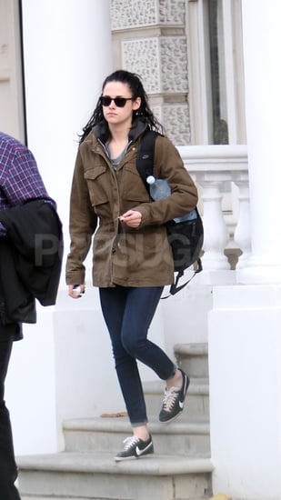 Kristen Stewart headed out for the day in London.