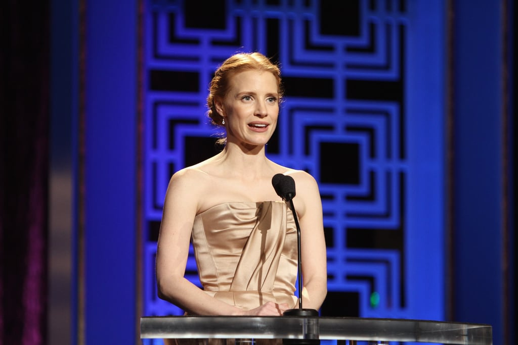 Jessica Chastain and Lena Dunham Celebrate Hollywood Scribes at WGA Awards
