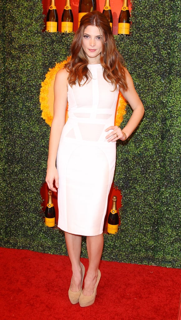 Ashley Greene's Antonio Berardi LWD came with a sexy twist — the bondage-inspired nude paneling gave her look a much sultrier vibe.