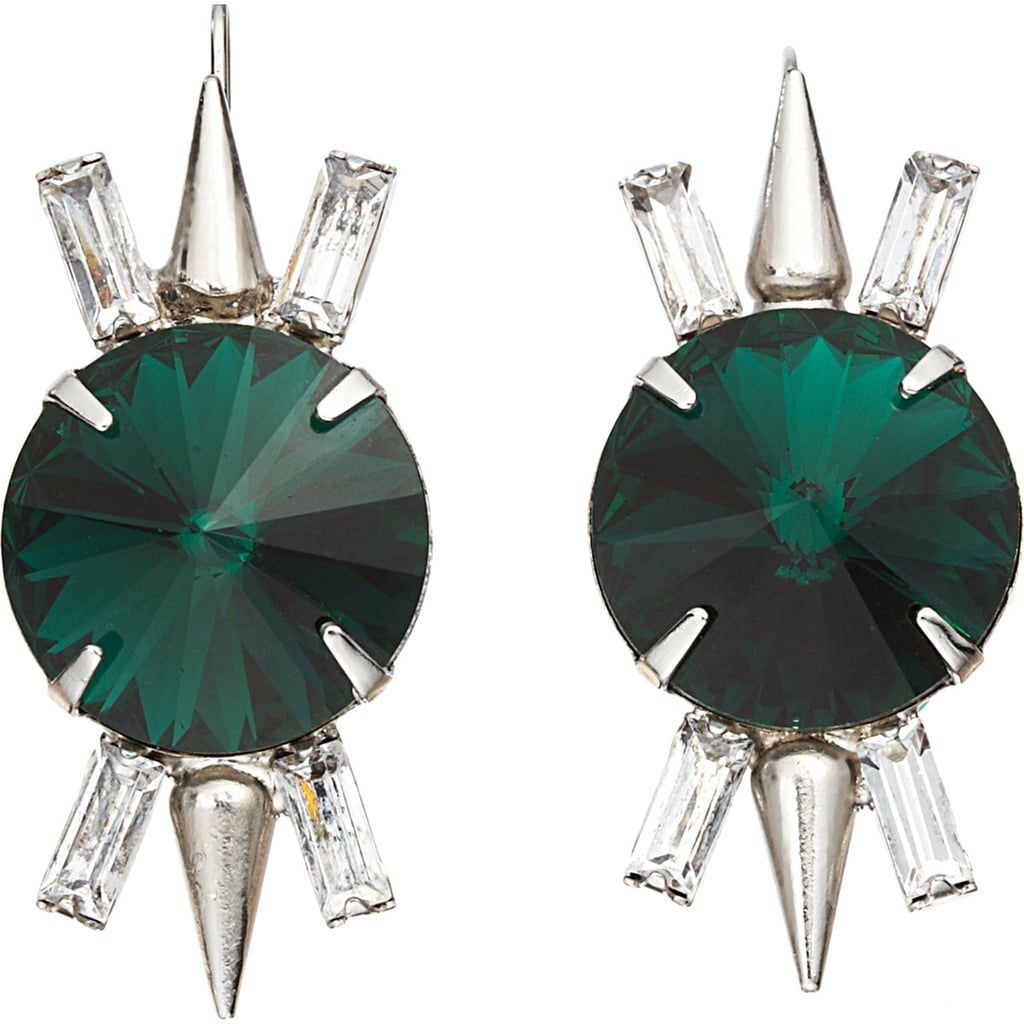 Fallon's spike drop earrings ($109, originally $275) feature stunning crystals in 2013's color of the year: emerald.