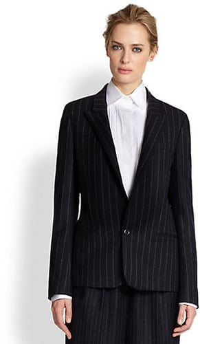 Vanessa Bruno Pinstriped Wool Flannel Blazer