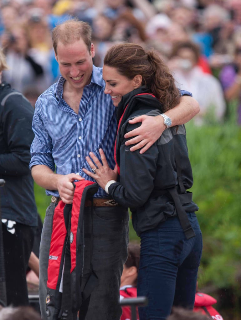"""April 11: Will and Kate's Sailing Race The group will fly to Auckland, where they will have an """"informal"""" meeting with families and service personnel who are stationed at the RNZAF base at Whenuapai.  After the base visit, the real fun starts, as the duke and duchess will travel to the Emirates Team New Zealand base to meet with the country's world-class sailing team and take part in an """"informal"""" race against one another. William's private secretary noted, """"As everyone probably knows, however, the duke and duchess are just a little competitive."""" What we'll take away from that is watch out, Will!  The two are no strangers to racing on the water during these types of visits. Back in 2011, Kate and Will competed against one another in a dragon boat race on Prince Edward Island during a tour of Canada (pictured). Will won that time, so competitive Kate may be looking forward to redeeming herself in New Zealand.  After the race, the two will take a spin on Sealegs, a boat that can drive on dry land and in the water. The two will then return to Wellington via the  RNZAF base. April 13: Wine and White-Water Rafting Following a trip to Hamilton and Cambridge in the previous day, the couple will leave George behind for a two-day tour of Dunedin, Queenstown, and Christchurch, all on South Island. The two will attend a Palm Sunday service at the Cathedral Church of St. Paul and then visit the stadium to watch a festival of Rippa Rugby, or noncontact rugby. The duke and duchess will each coach a team, and Will's secretary promises, """"We can expect some pretty competitive outbursts.""""  The couple will then fly to Queenstown, where they will visit the Amisfield vineyard, one of the locations of New Zealand's growing wine production. After tasting some wine, the couple will then go on a white-water ride through the Shotover River, which will undoubtedly be a good photo op. After their ride, the couple will return to their hotel in the Queenstown area. April 16: Last Day in New Zeal"""
