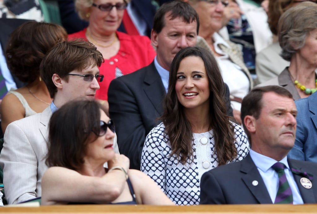 Pippa Middleton sat in the stands at 2012 Wimbledon.