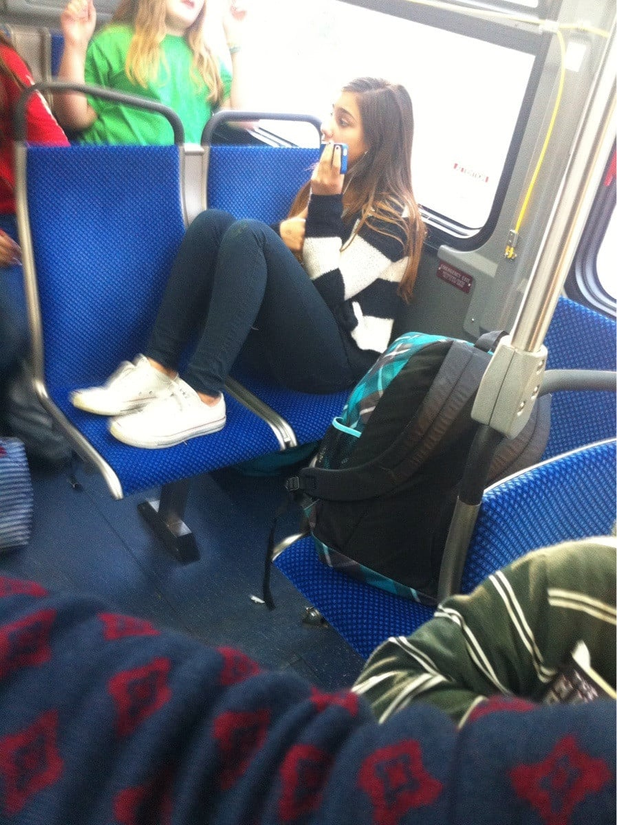 Yep, Just Taking Up Three Seats on the Bus
