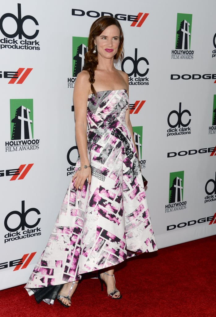 Juliette Lewis was one of the stars to take center stage when the August: Osage County cast won the ensemble award at the Hollywood Film Awards on Monday.