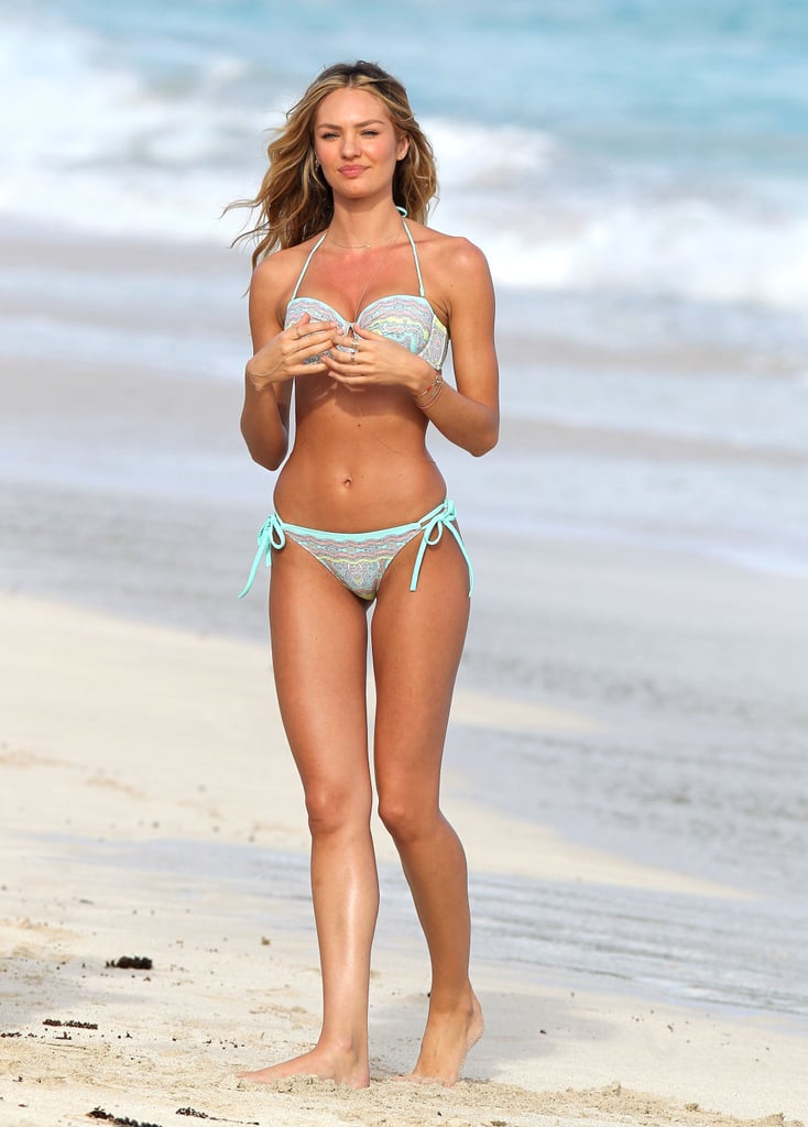 Candice Swanepoel shot a new swimsuit catalog for Victoria's Secret on Thursday.