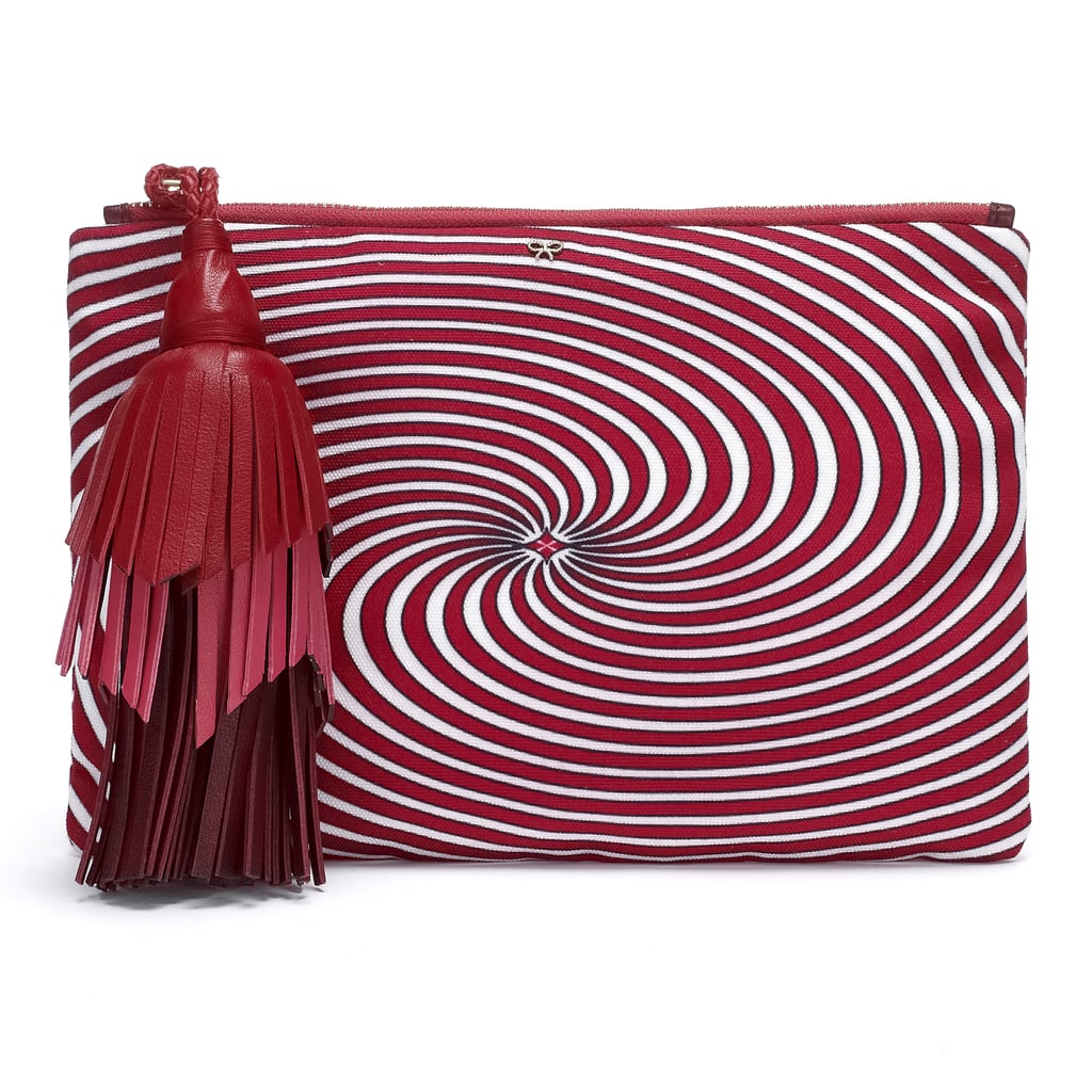 Captivate fellow partiers with Anya Hindmarch's swirly, twirly zip-up ($650).