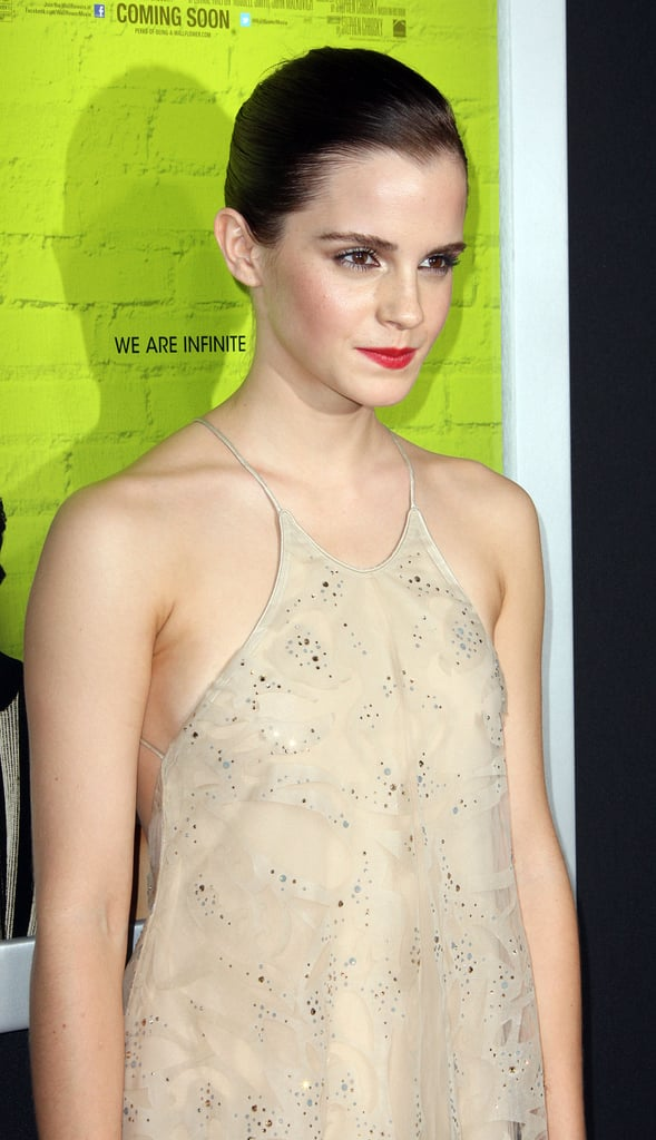 Emma and Nina Premiere The Perks of Being a Wallflower Hand in Hand