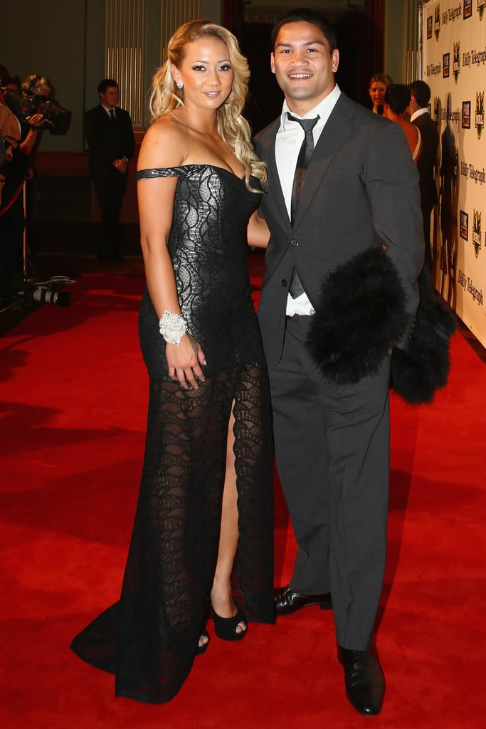 Mikayla Watts and Issac Luke looked glam on the red carpet.