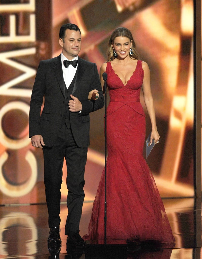 Jimmy Kimmel and Sofia Vergara presented together at the Emmys.