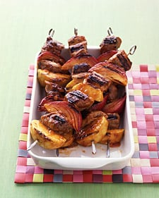 Sunday BBQ: Pork and Apple Kebabs
