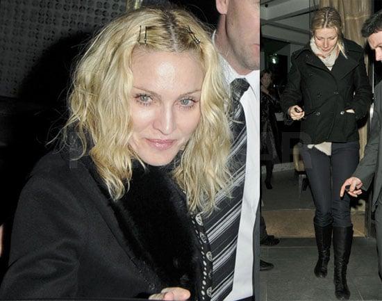 Madonna and Gwyneth Paltrow grab dinner in London