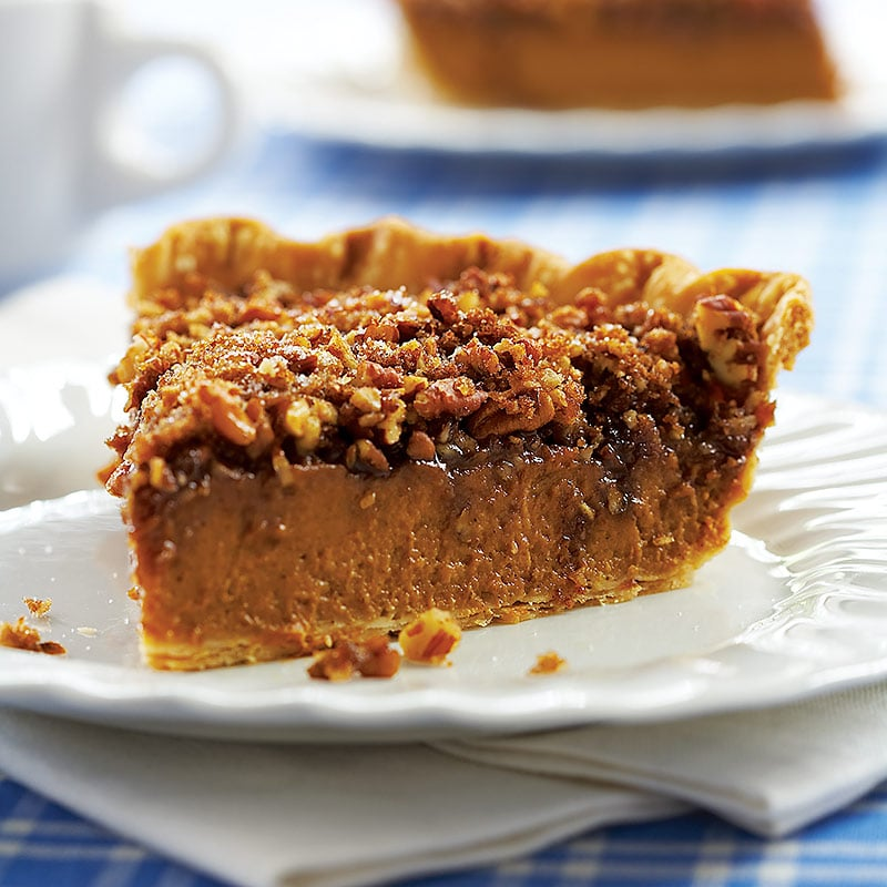 Pumpkin-Pecan Pie