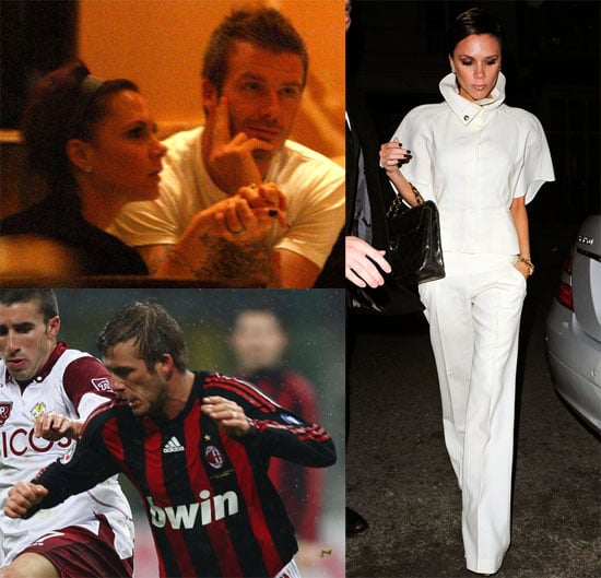 Photos of David and Victoria Beckham in Milan and London
