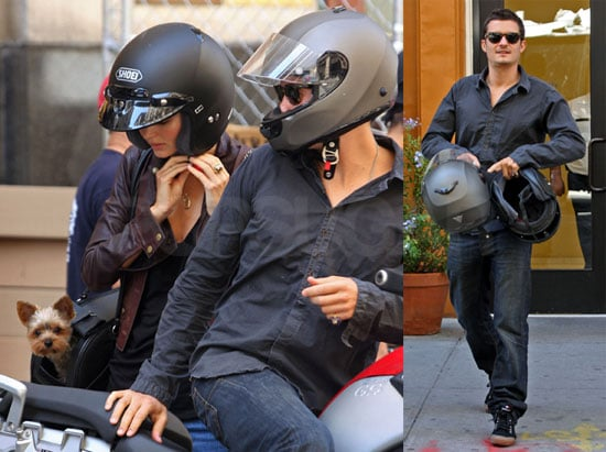 Photos of Orlando Bloom and Miranda Kerr on a Motorcycle in NYC