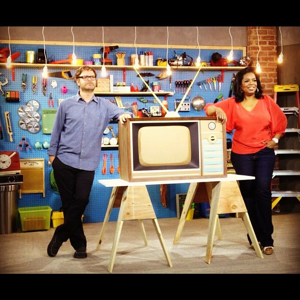 Rainn Wilson spent time on the set with Oprah. Source: Instagram user rainnwilson