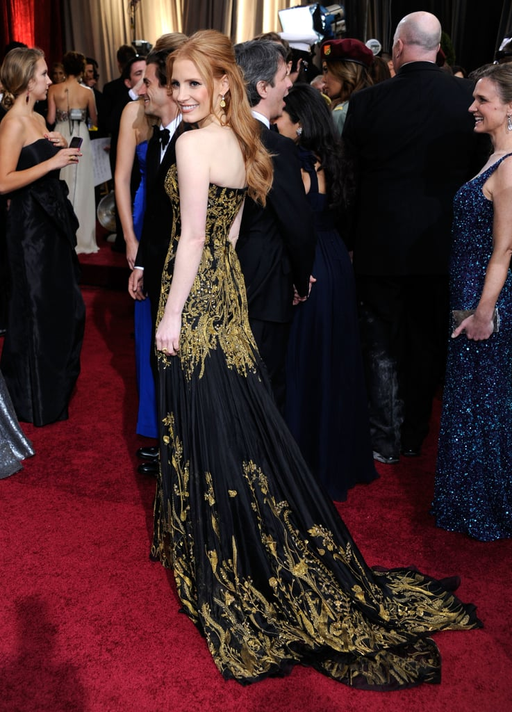 Jessica Chastain's lovely Alexander McQueen dress.