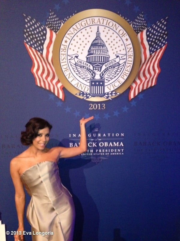 Eva Longoria posed at the Inaugural Ball. Source: Eva Longoria on WhoSay