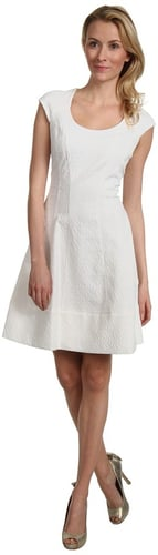 Vince Camuto - Short Sleeve Fit Flare Dress (White) - Apparel