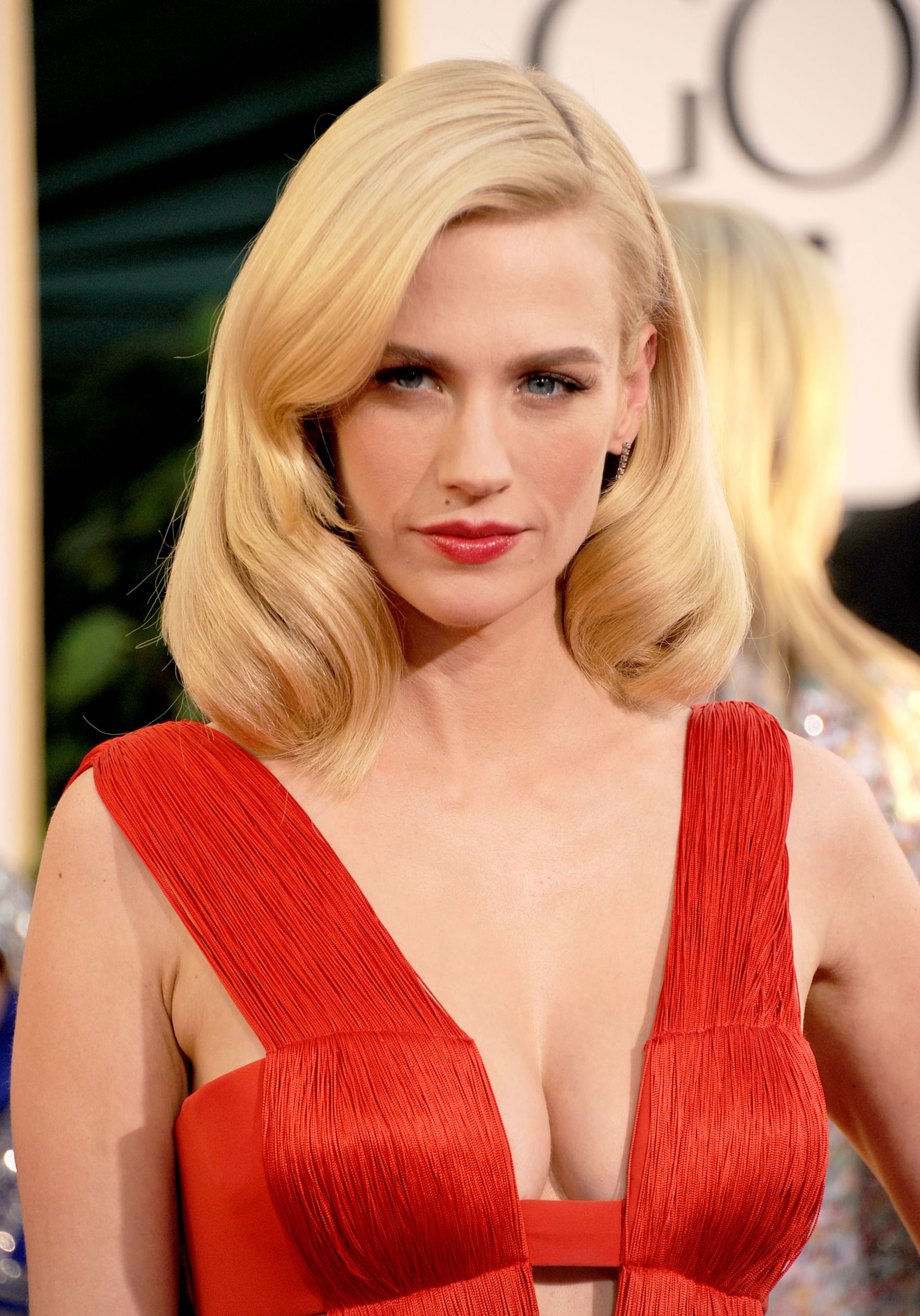 Heads were turning at the 2011 Golden Globes when January hit the red carpet. She went for major sex appeal in a plunging gown paired with smooth, glamorous waves. The look was complete with flirty lashes and a touch of red on her lips.