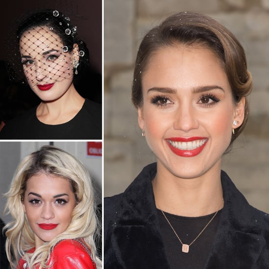 Red Lips Reigned at the Front Row of Couture Fashion Week