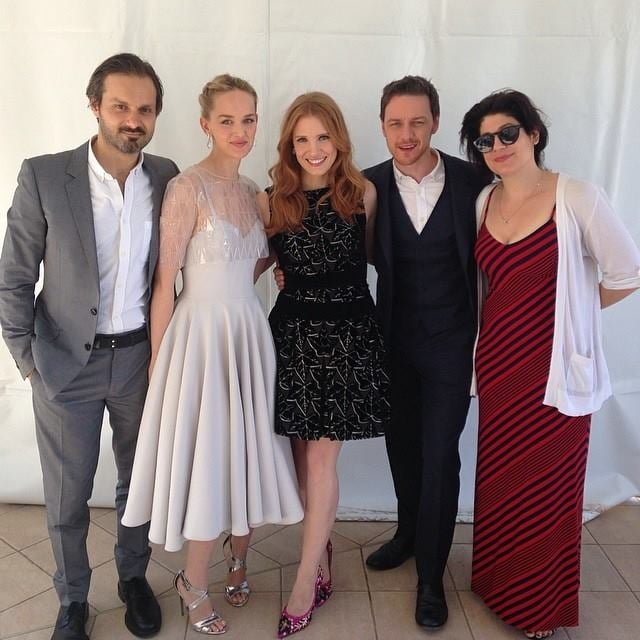 Jessica Chastain posed with her castmates from The Disappearance of Eleanor Rigby. Source: Facebook user jessicachastain