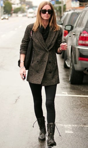 Nicky Hilton Wearing Combat Boots on Melrose Avenue