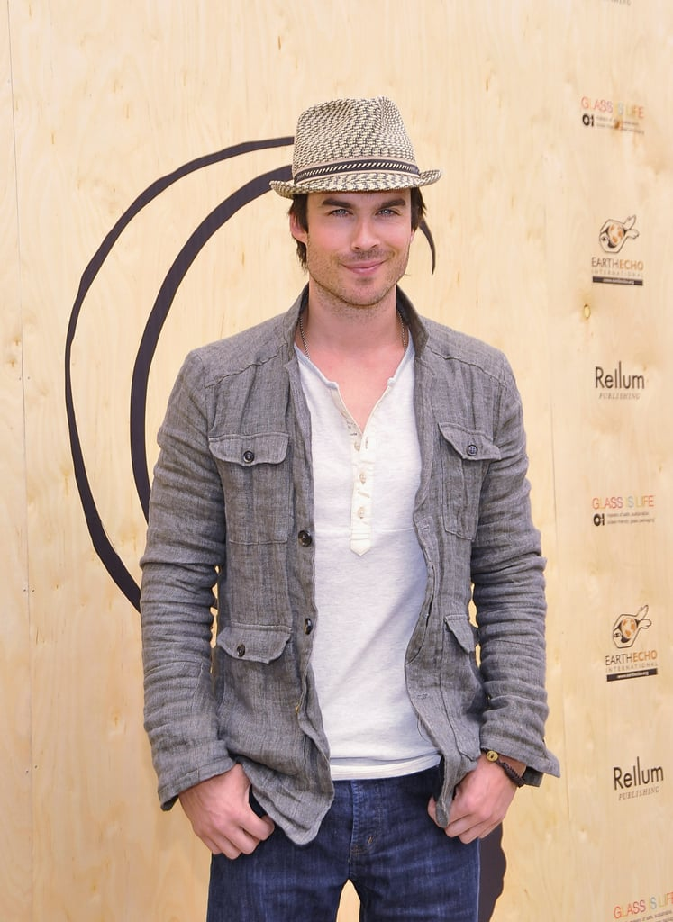 Ian Somerhalder accessorized with a hat at an event in Santa Monica in April 2012.